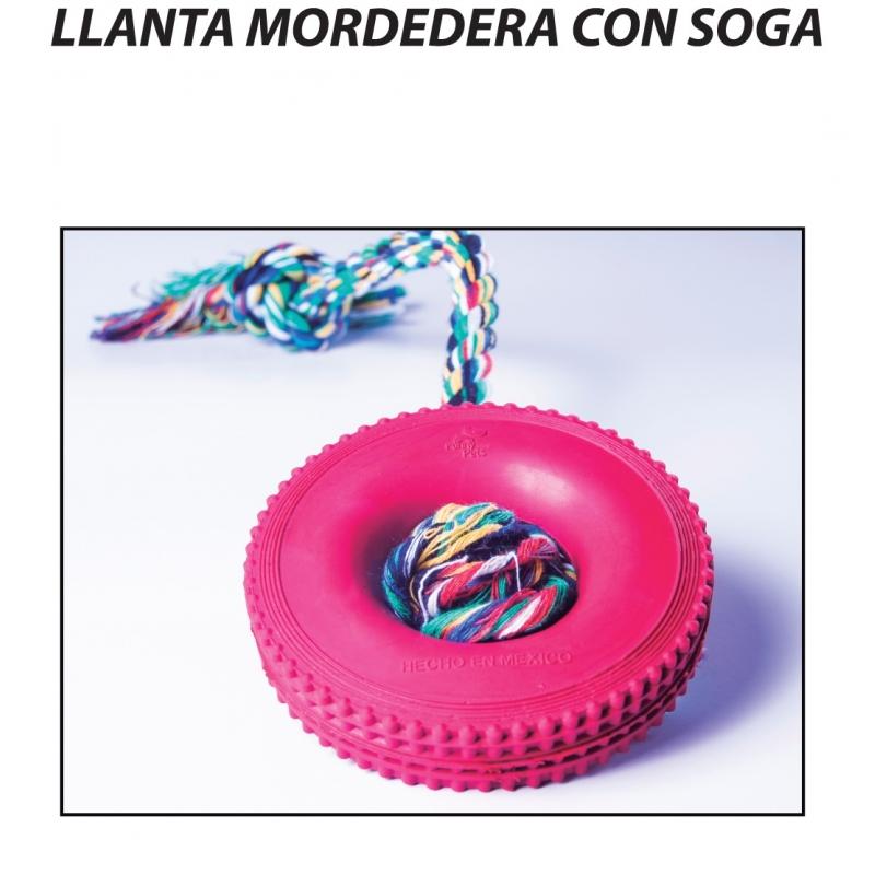 LLANTA MORDEDERA CON SOGA
