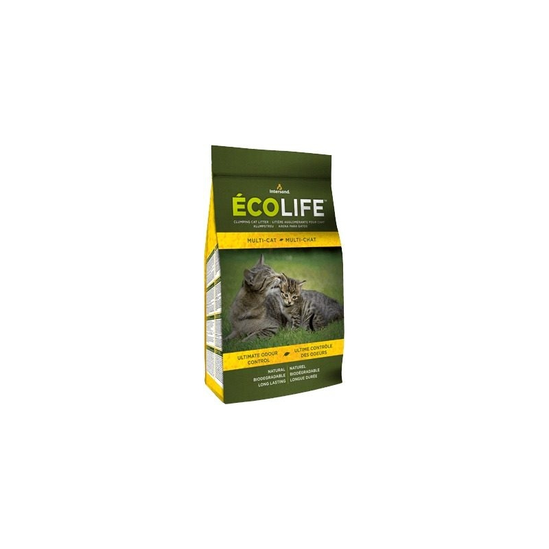 Arena Para Gato Biodegradable Ecolife 9 Kg